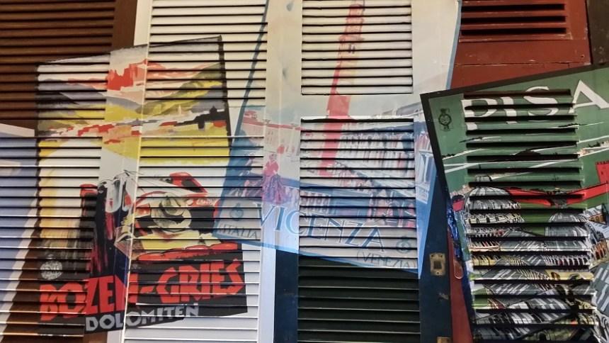 Retro tourist posters adorn the walls