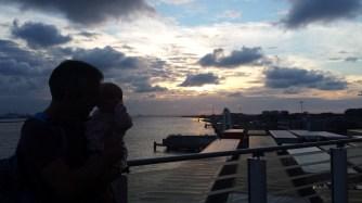 Bob and Baba on the sun deck at sun set