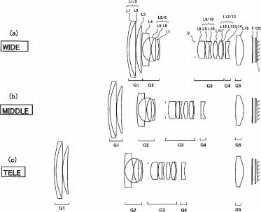 Konica patents a 9-90mm f/2.8-5.6 IS lens for 1″ sensor