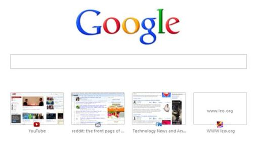 Chrome's web history icons in new Tabs (4)
