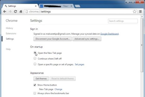 Chrome-default-page