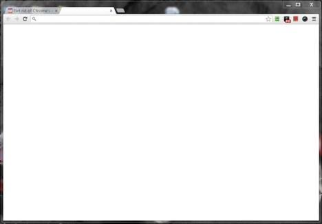 chrome blank new tab