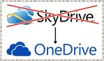 Microsoft SkyDrive is changed to OneDrive