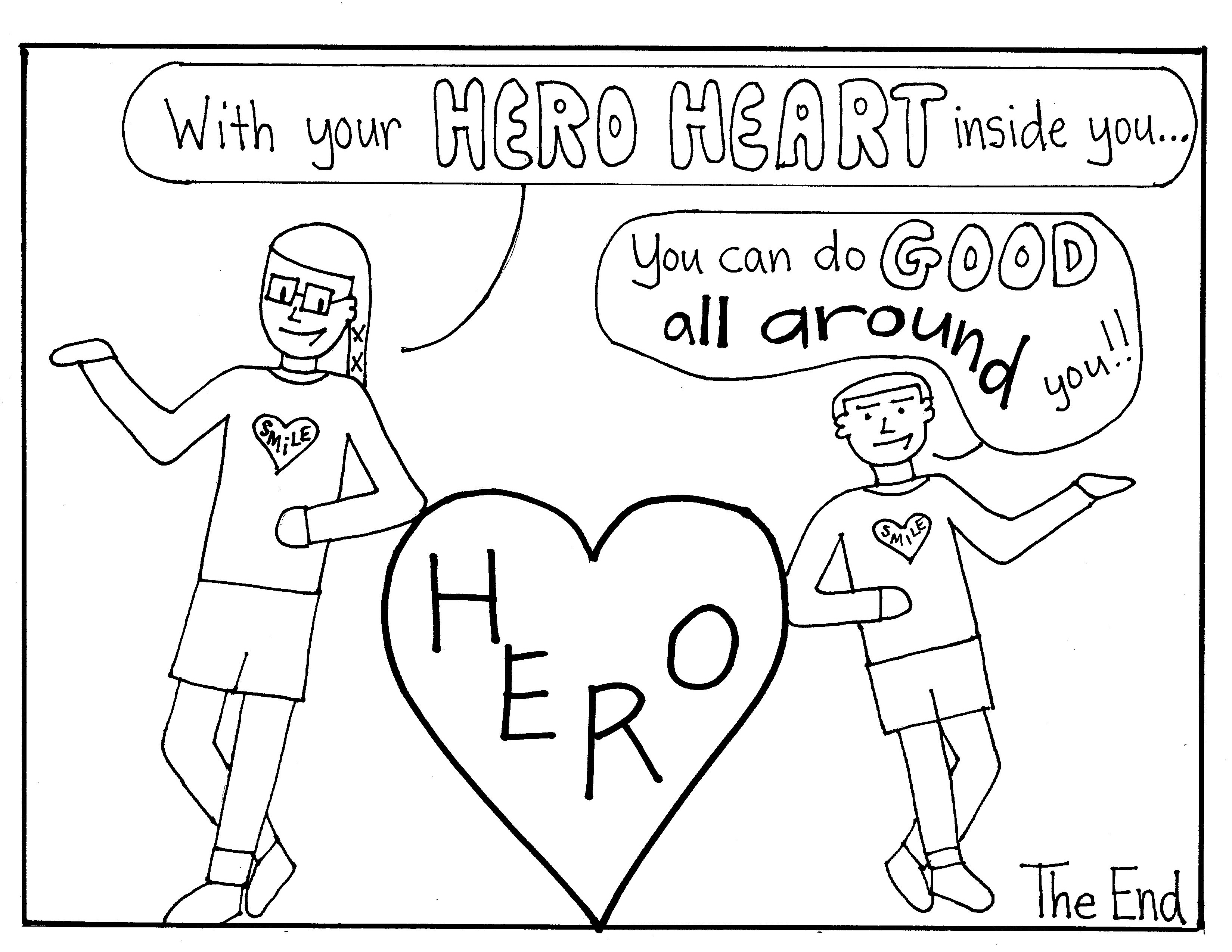 Community Hero Coloring Pages