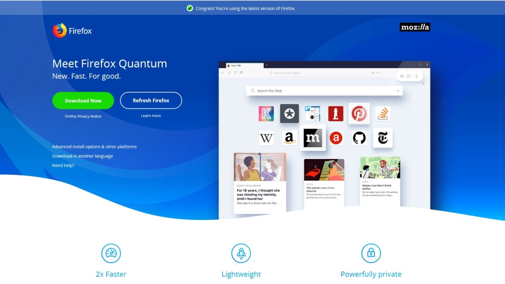 Firefox the default browser in Windows 10
