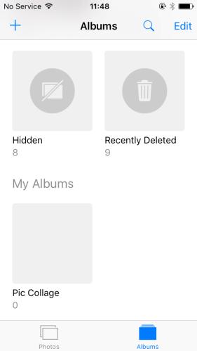 Hide iPhone photos