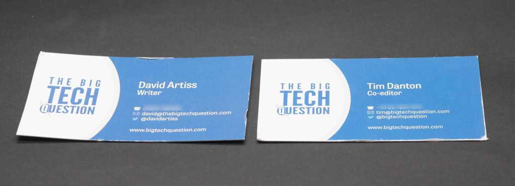 Business card reviews
