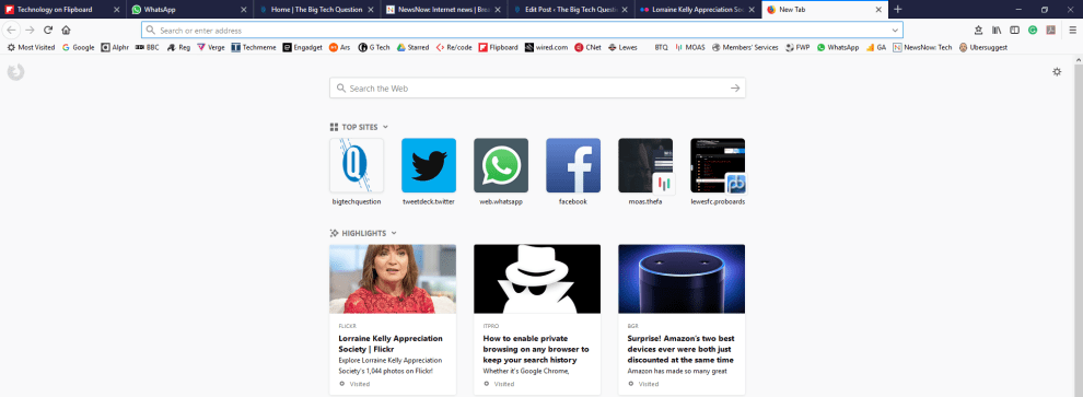 bookmarks disappeared in Firefox