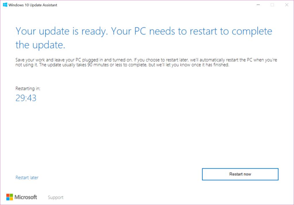 Get the latest Windows 10 update