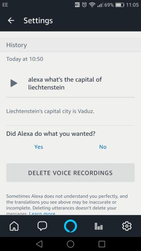 Delete Alexa voice recordings?