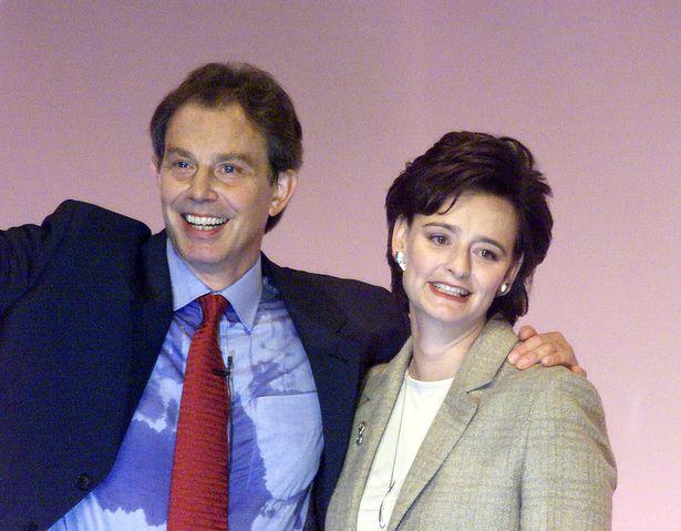 Tony Blair sweats