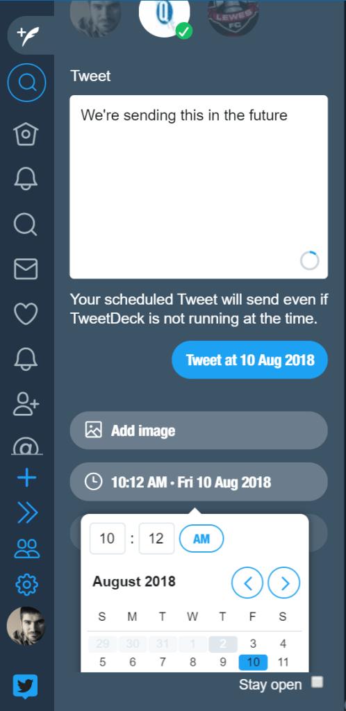 Schedule a tweet