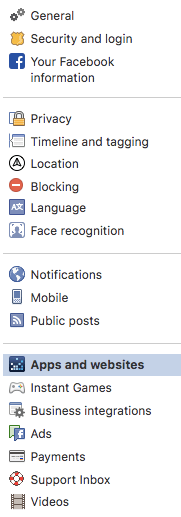 Stop third-party apps from accessing my Facebook data