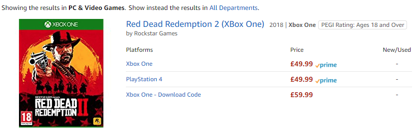 Why is the Red Dead Redemption 2 download more expensive