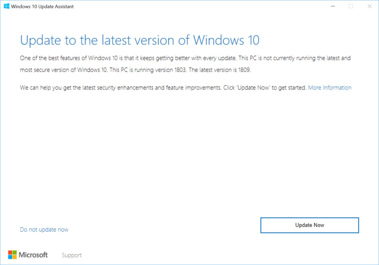 get the latest Windows 10 update