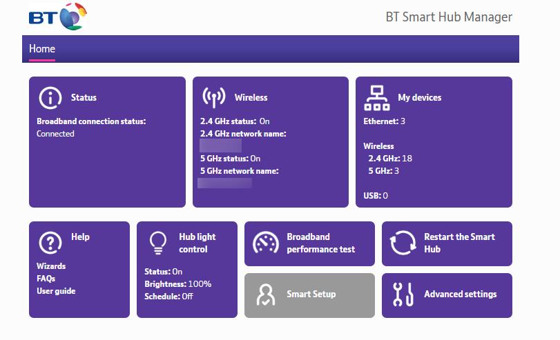 BT Smart Hub Manager