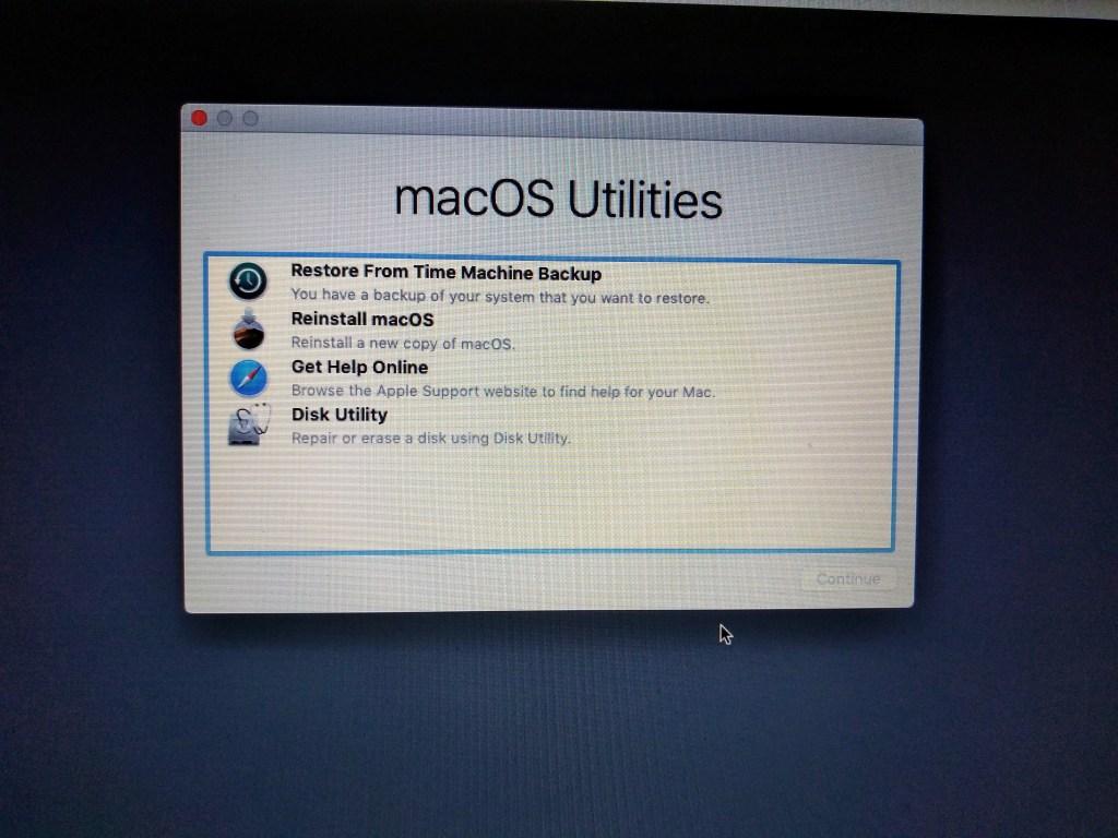 Mac in Recovery Mode