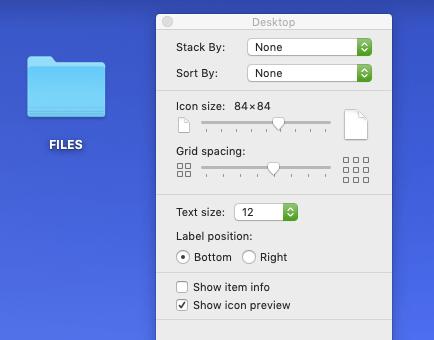 Adjust Mac icon size