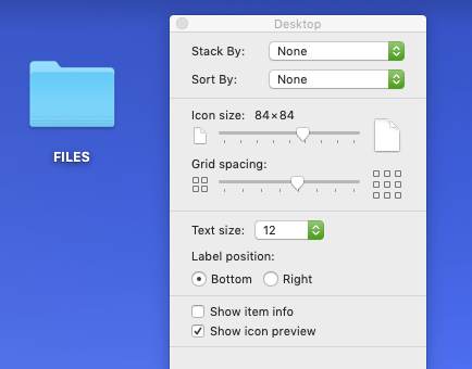 Adjust Mac icon size