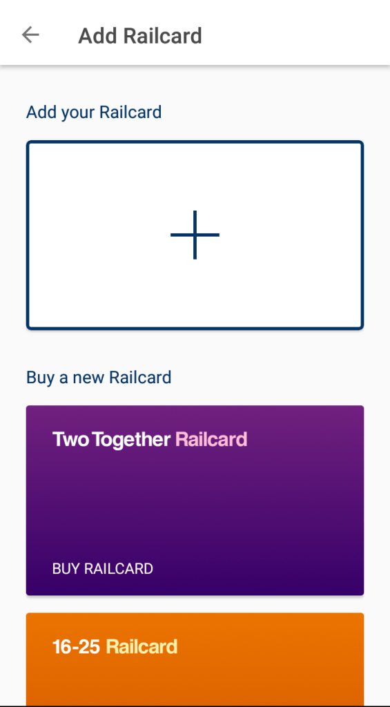 Buy a new Railcard