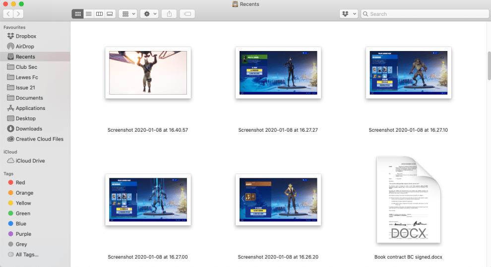 photo thumbnails bigger on Mac