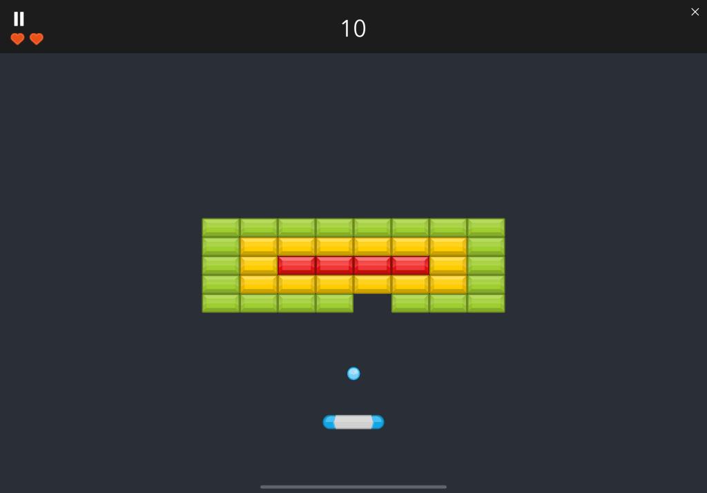 Pythonista 3 Brick Breaker