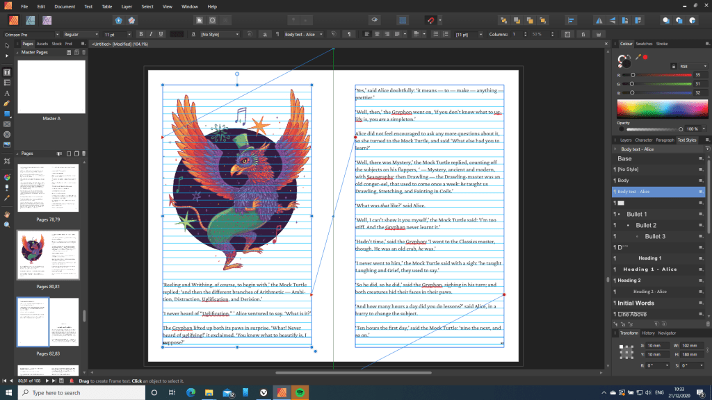 Book layout in Affinity Publisher