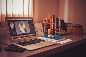 MacBook on desk