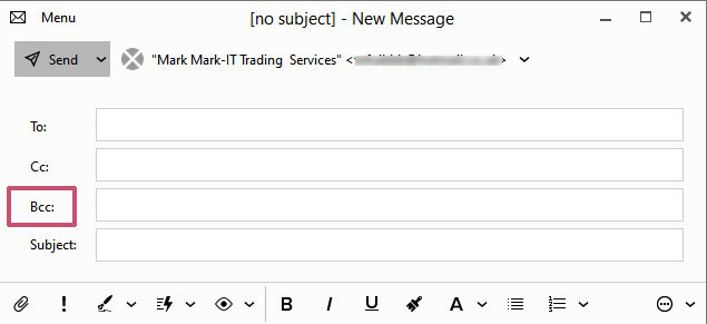 send a mass email using the free version of em client