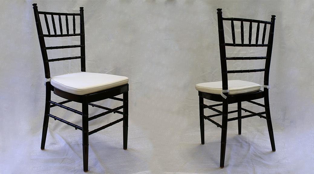 wedding chair rentals coors light mahogany chiavari rental iowa city cr qc ia with ivory cushion