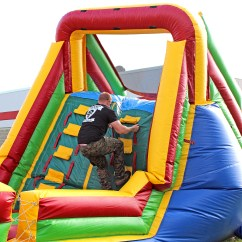Inflatable Lifting Chair Swivel Jysk Hard Rope Climb Section Obstacle Course