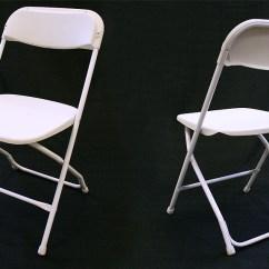 Folding Chairs For Rent Bliss Hammock Chair Standard White Rental Iowa City Cedar Rapids Ia Plastic