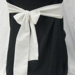Chair Cover For Rent Wedding Barnwood Dining Chairs Black Linen Rental With White Bow On Back Weddings And Events