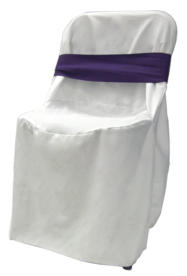 chair cover rentals quad cities ergo desk white linen rental with purple bow wedding for weddings and events