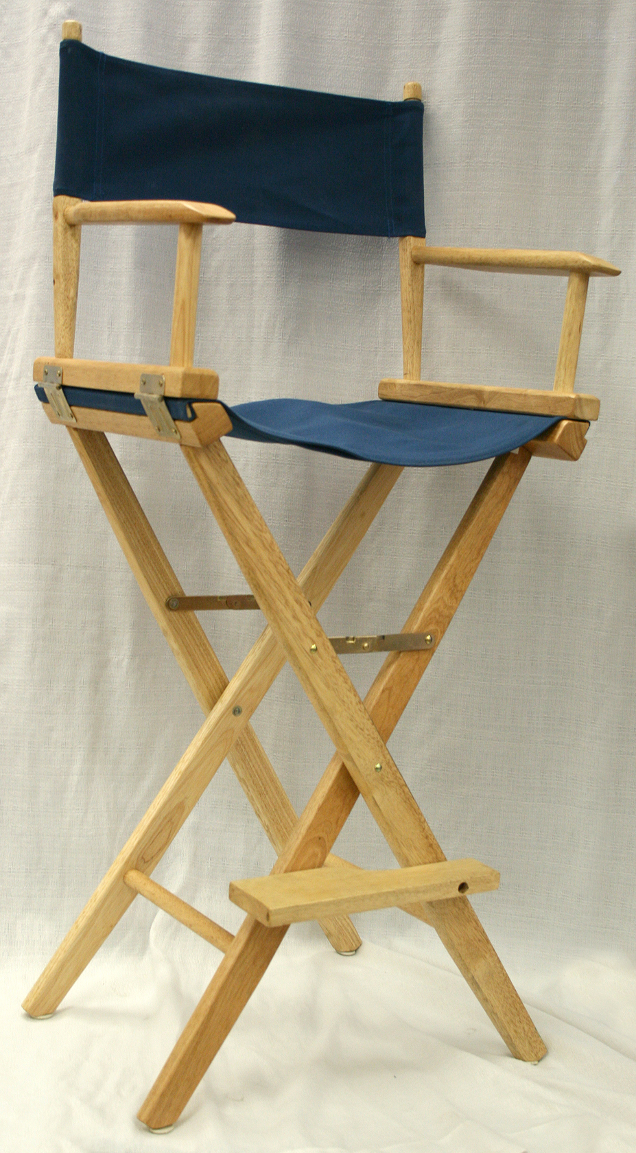 tall director chair bungee amazon folding s rental iowa canvas seat back dark navy blue