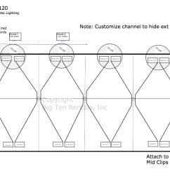 bistro light lighting diagram used under 40 x 120 hybrid tent [ 1269 x 734 Pixel ]