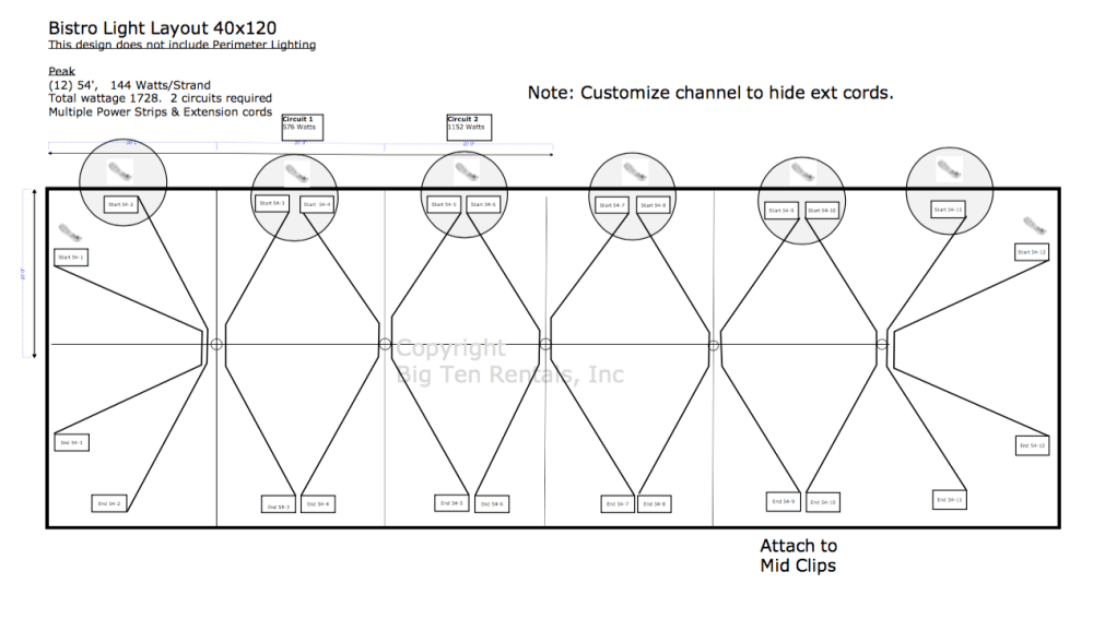 medium resolution of bistro light lighting diagram used under 40 x 120 hybrid tent