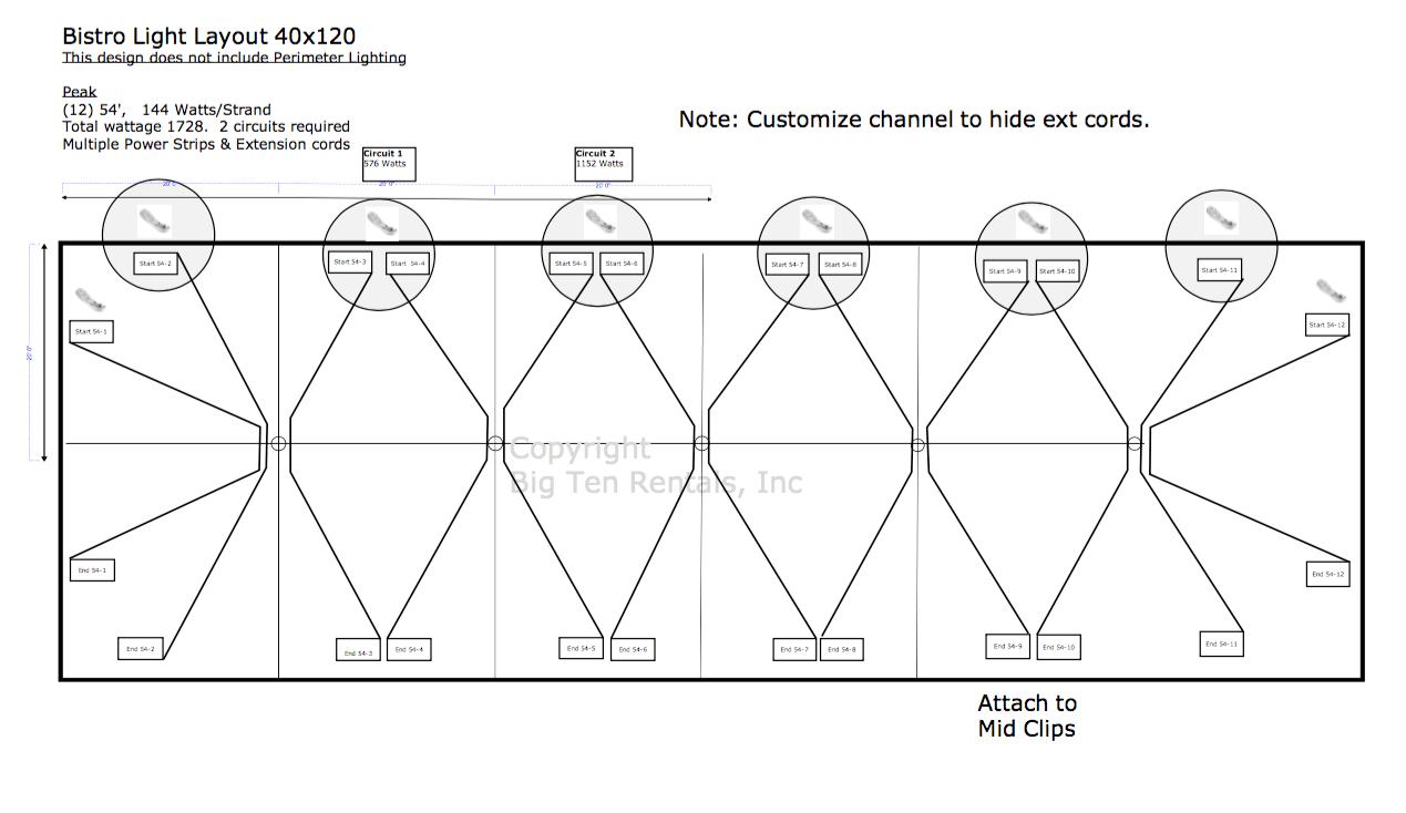 hight resolution of bistro light lighting diagram used under 40 x 120 hybrid tent