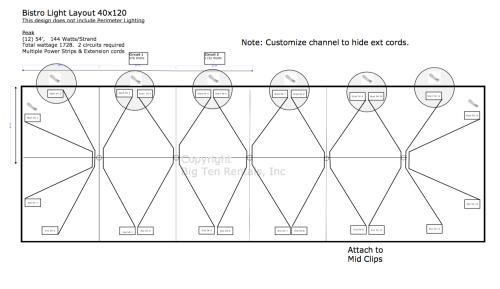 small resolution of bistro light lighting diagram used under 40 x 120 hybrid tent