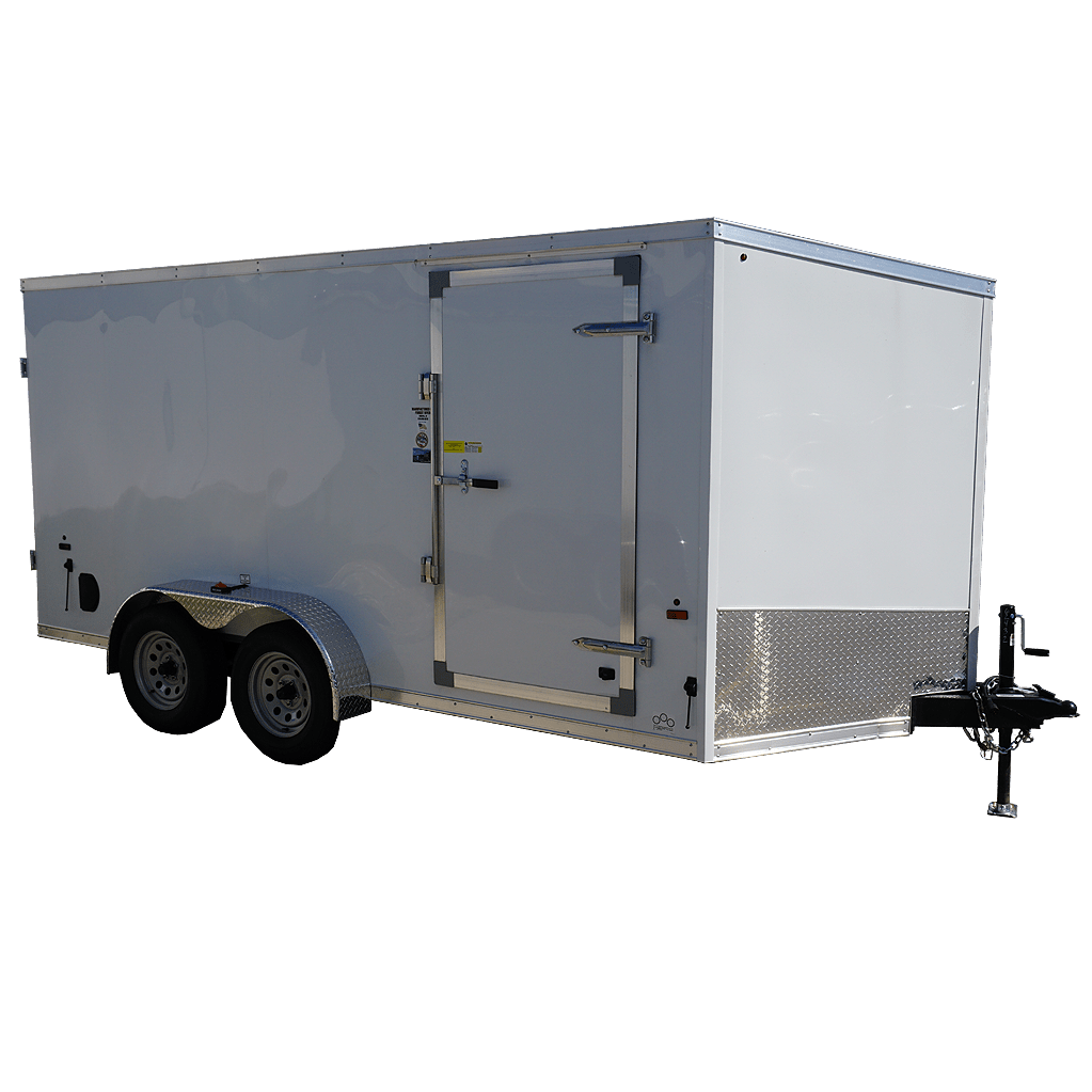 hight resolution of 7 x14 white tandem enclosed trailer for rent or sale 2432 quare