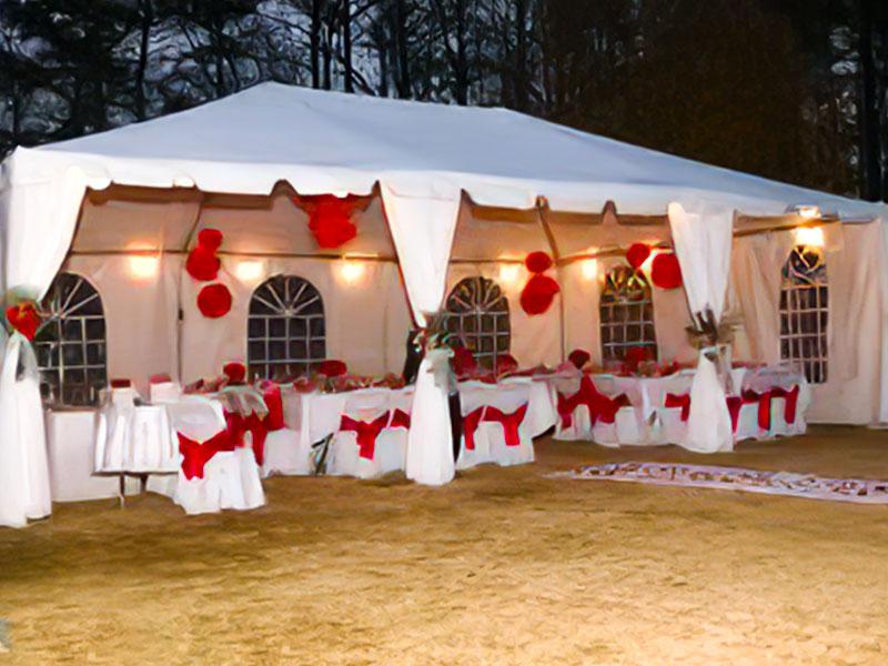 wedding lighting big tent events