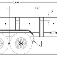 6 Way Square Trailer Wiring Diagram Volvo Big Tex Trailers 10lx Pro Series Tandem Axle Extra Wide Dump Detailed Measurements