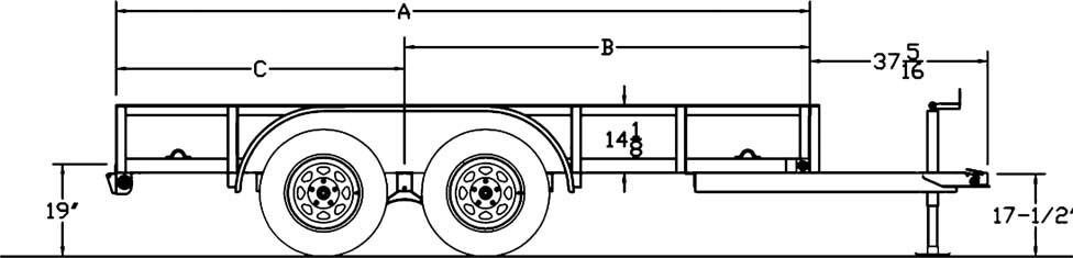 big tex trailer brake wiring diagram gm harness dexter electric brakes www toyskids co trailers 45la angle iron utility 12x2 for