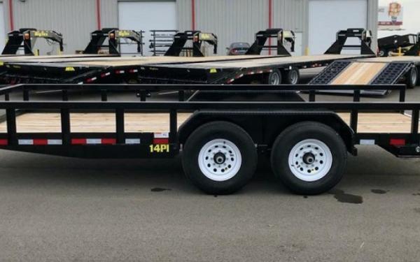 Big Tex 14pi 18 Hd Tandem Axle Pipe Top Utility Trailer