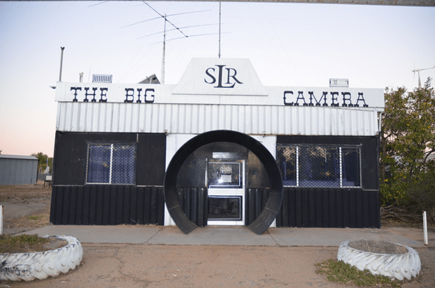 The front view of the Big Camera in Meckering