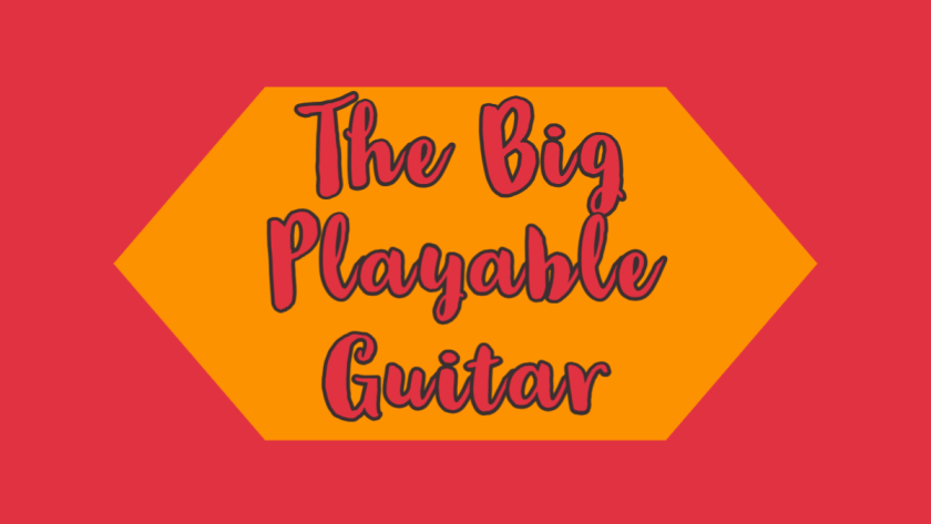 featured image for the big playable guitar