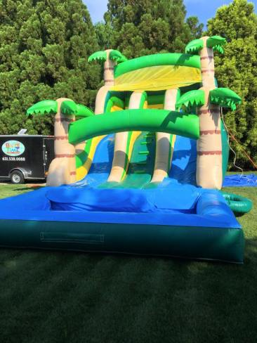 22 Foot Dual Lane Tropical Water Slide