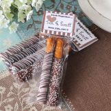 pretzal wedding favors