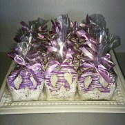 Purple Pretzels Favor