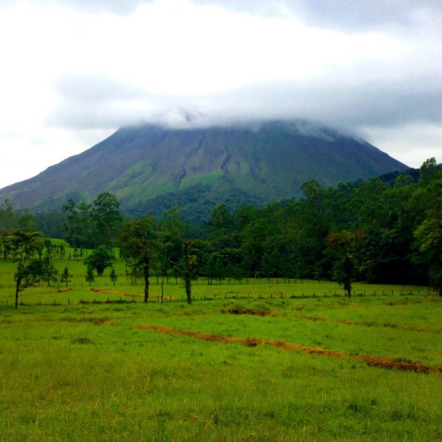 Arenal Volcano Hiding Behind the Clouds